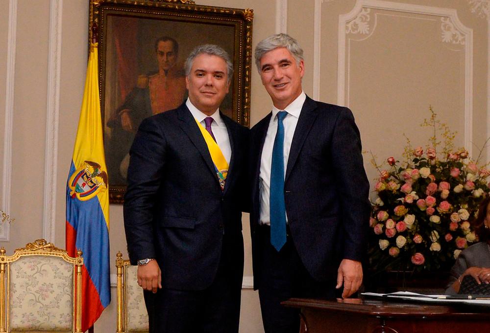 El presidente de Colombia, Iván Duque, y el ministro de Salud, Juan Pablo Uribe Restrepo