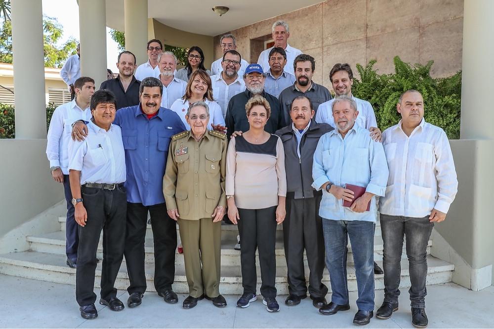 Reunión en Cuba de los mandatarios de Brasil, Venezuela, Nicaragua y Bolivia, en 2016