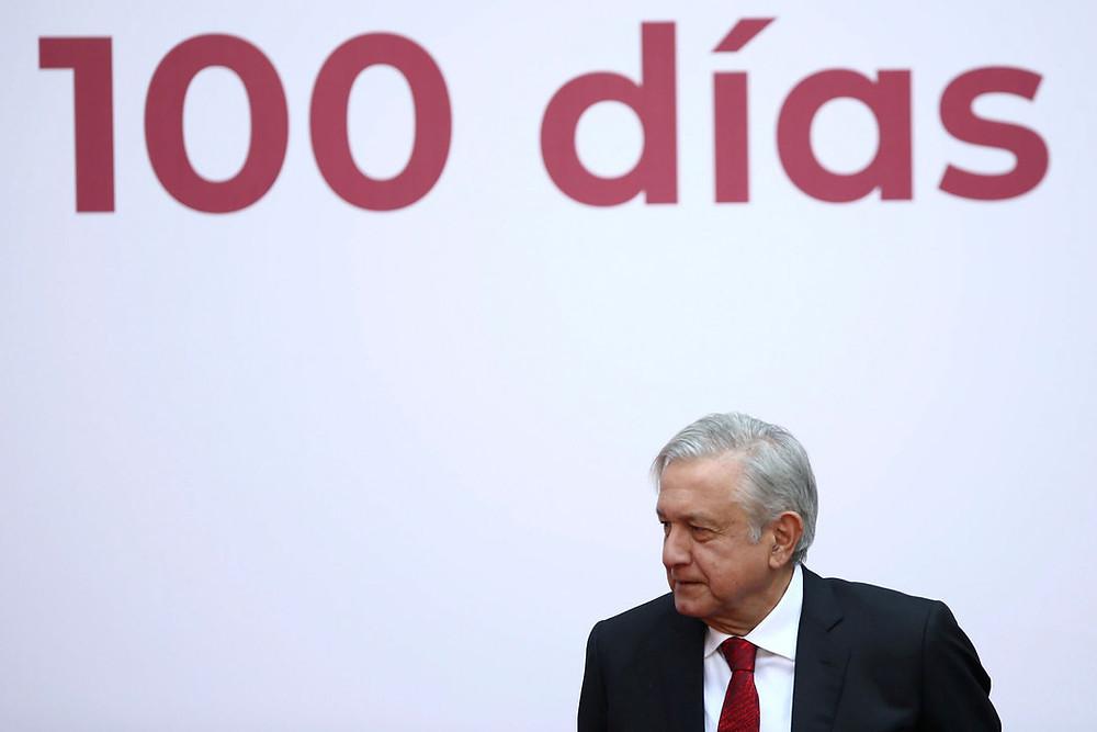 Manuel Andrés López Obrador en su 'informe' de primeros 100 días de gobierno