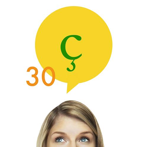 30 reais por mês (x6) para fazer D'Vox em português