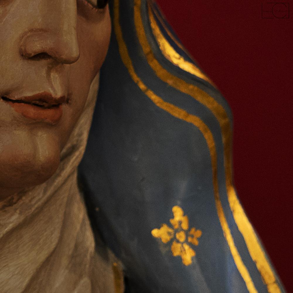 Foto de um fragmento da 'Pietá' do mestre Aleijadinho