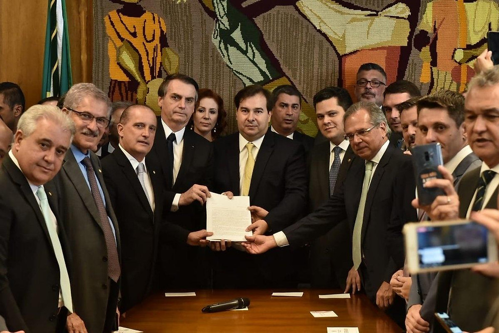 Entrega da iniciativa de Reforma da Previdência ao Congresso Nacional