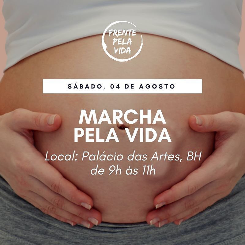Cartaz de um dos atos contra a tentativa de legalizar o aborto via judicial no Brasil