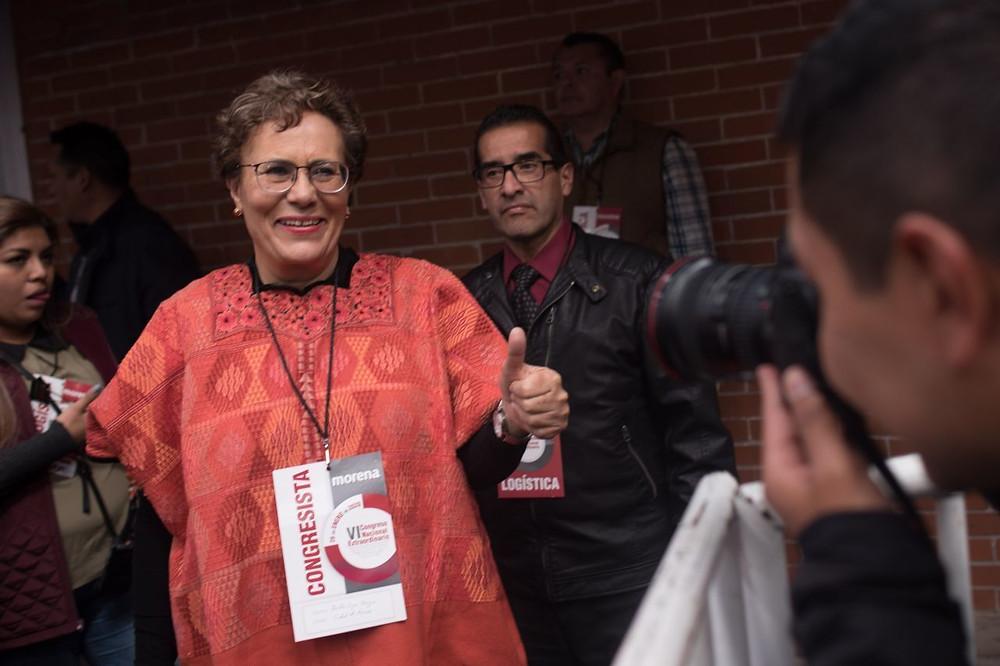Bertha Luján, presidenta del Consejo y aspirante a la dirigencia nacional de Morena