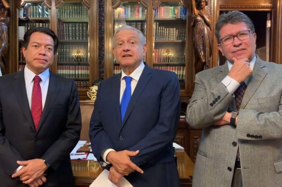 Mario Delgado, LópezObrador y Monreal, una alianza