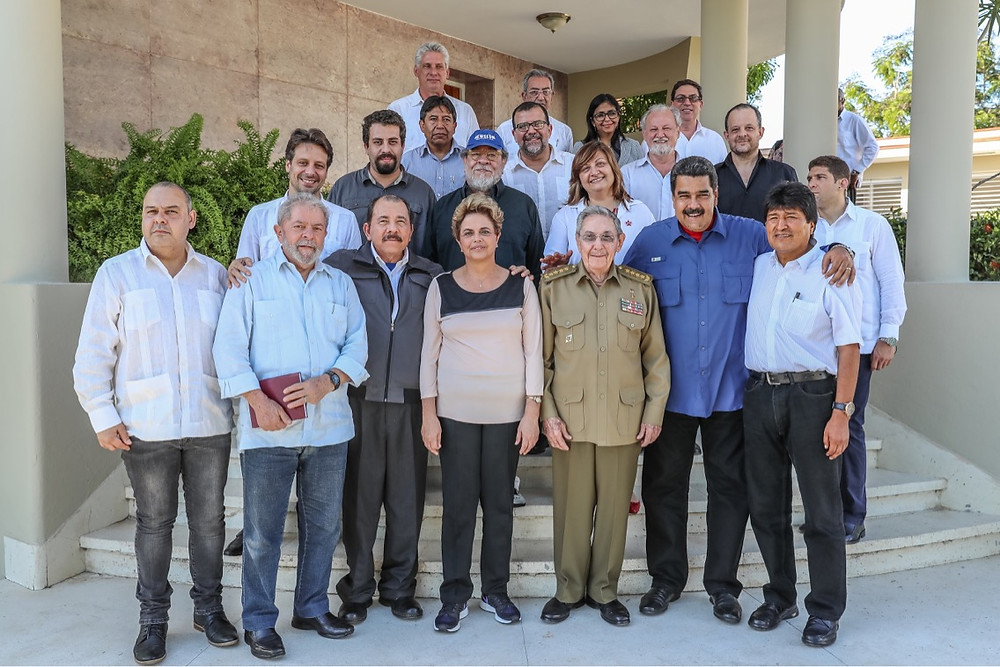 Reunião em Cuba dos mandatários de Brasil, Venezuela, Nicaragua e Bolivia em 2016