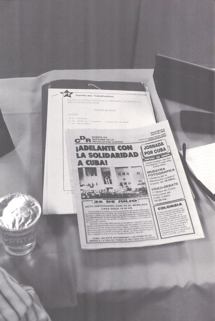 Alguns dos materiais do 1 encontro do FSP em 1990