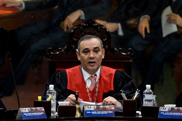 Maikel José Moreno Pérez, el actual presidente del ilegitimo Tribunal Superior de Justicia en Venezuela
