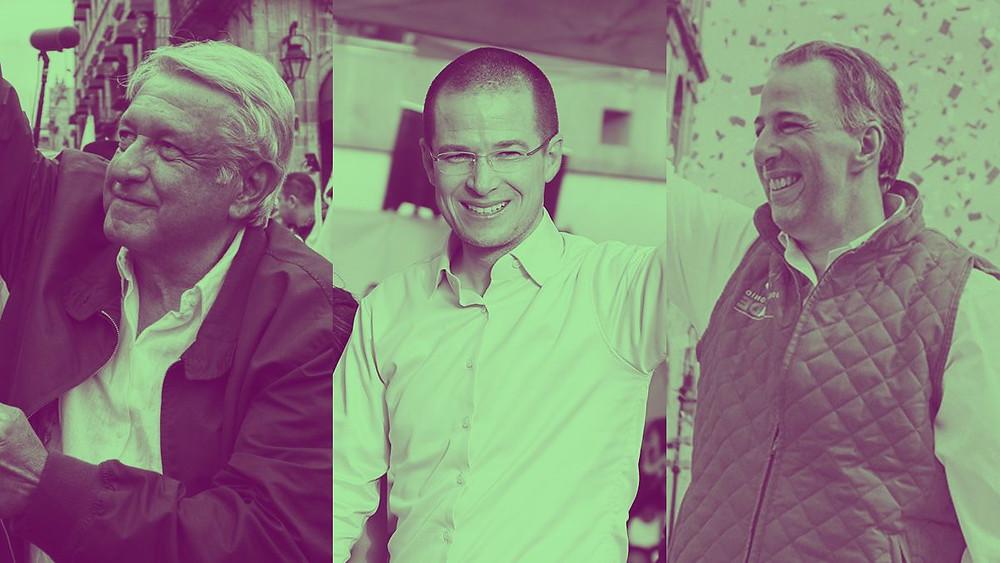 López Obrador, Anaya y Meade