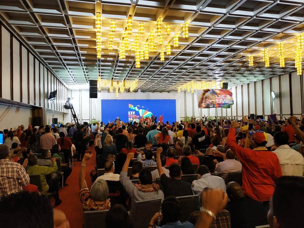 La inauguración del Foro de São Paulo en Caracas, 25 de julio de 2019