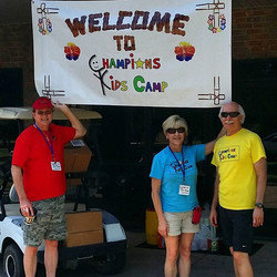 Getting ready to welcome 190+ kids to camp 2015! Founders Bill & Kim Nash with Kirby Lammers