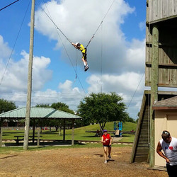 Getting in the swing of things at #camp 2015 #ropes course