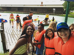 When life gives you rain, get on the #bumperboats #nolightning #texas #camp