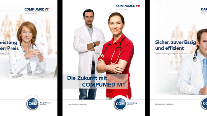 CGM Arztsysteme CompuMed M1 Pro // DATA VITAL // Markenaufbau // Corporate Design // Icondesign // A