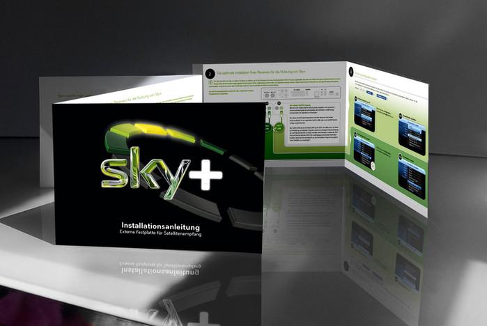 Sky Deutschland Fernsehen // Konzept & Idee Bedienungsanleitung // Erklärgrafiken // Vektorgrafi