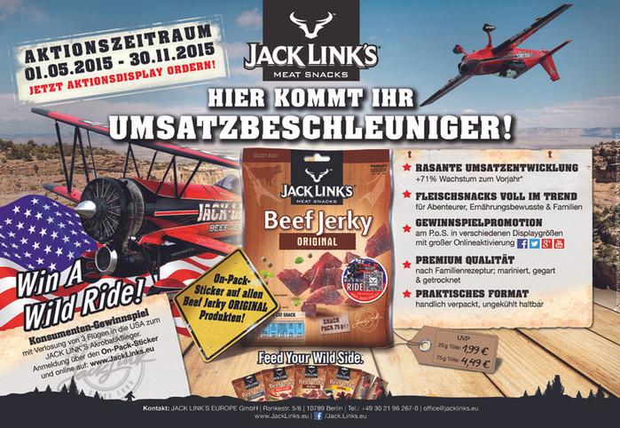 Jack Link´s Europe GmbH // Beef Jerky Fachanzeige 2015