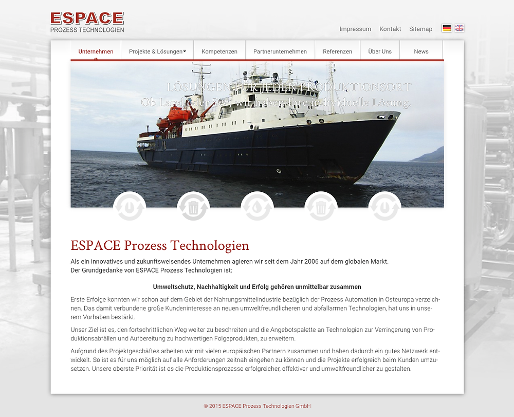 Neue Web-Präsenz von ESPACE-Prozess.de jetzt online. Zu sehen unter: www.espace-prozess.de