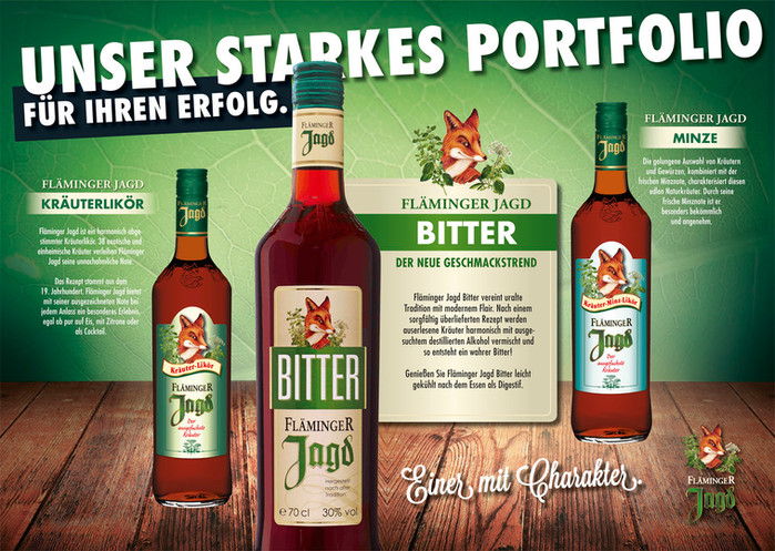 Drinks & Food Vertriebs GmbH // Fläminger Jagd Kräuterlikör // Spirituose