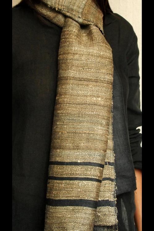 Handspun Tussar Silk Scarf