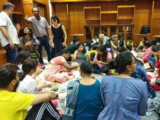 Pankha making workshop, IGNCA, 2018