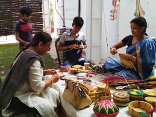 Pankha craft demonstration, IGNCA, 2018