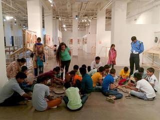 Pankha making workshop for children, IGNCA, 2018