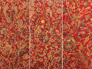 Kalamkari Textile Ceiling Top, Lotus House