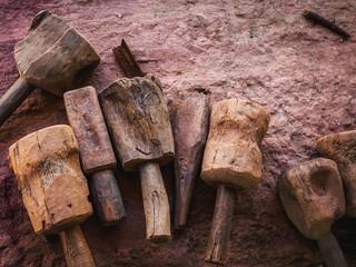 Stone sculptor's tools