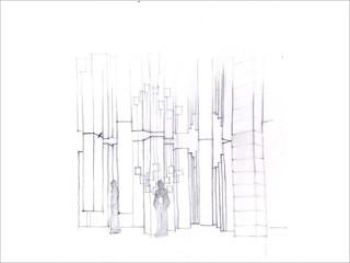 Initial concept sketch of Red Cross Museum, Geneva