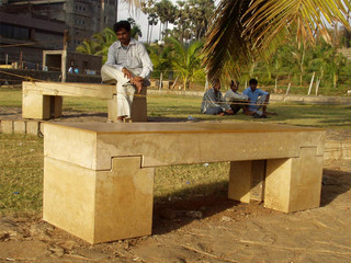 Outdoor furniture of the Lands End, Bandra