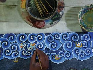 Making of Monsoon Mural, Jal Mahal