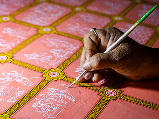 Study drawing of pattachitra painting depicting Shiv Leela