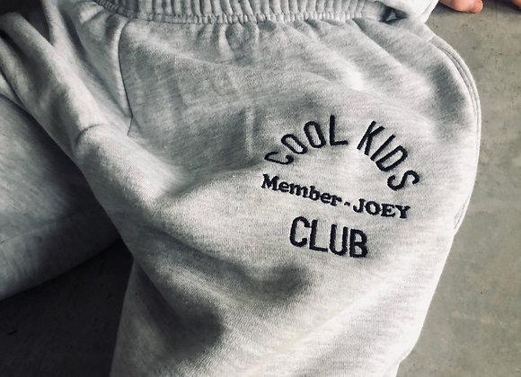 Cool Kids Club- Embroidered jog pants