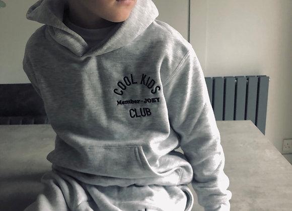 Cool Kids Club- Embroidered Hooded Sweatshirt