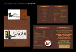 Two Boots Menu Design