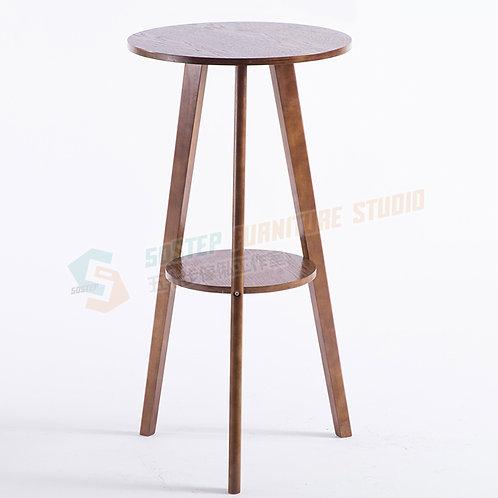 免費送貨美式復古實木圓形吧檯 Free shipping solid wood bar table