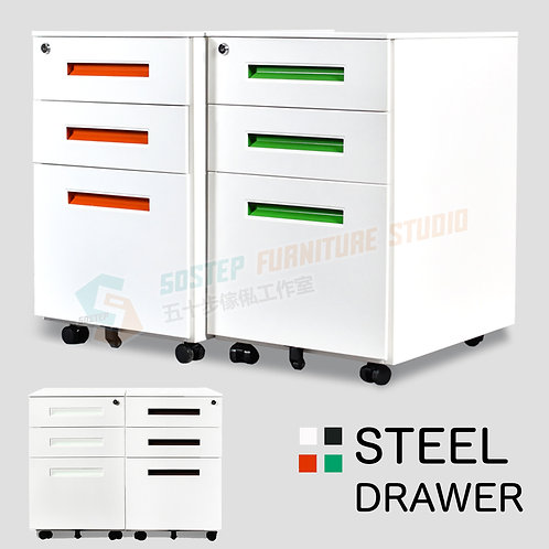 全新鋼製彩色活動櫃 Brand New steel drawer cabinet on castors