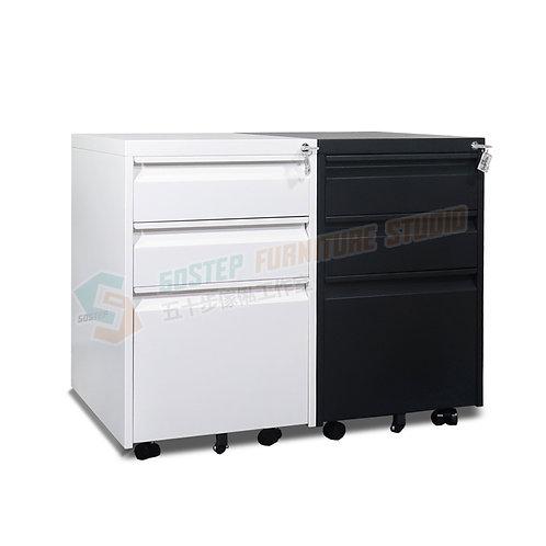 全新鋼製隱藏拉手活動櫃 Brand New steel drawer cabinet on castors