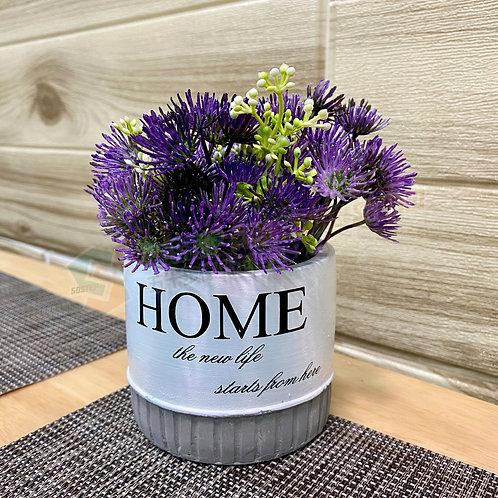 全新人造盆栽薊花 Brand New artificial potted plant