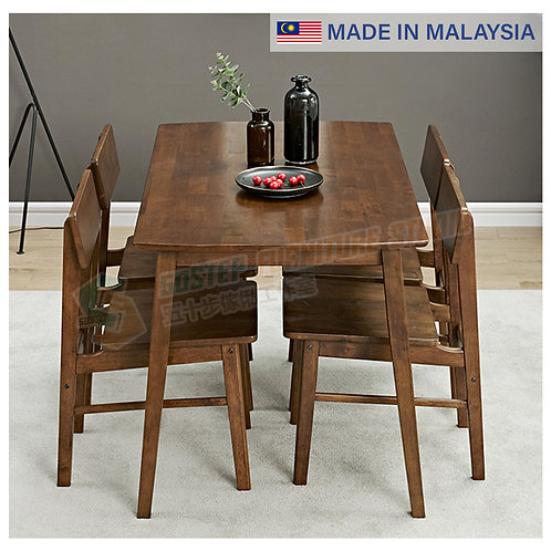 全新馬來西亞製造日式餐檯/連餐椅 Brand New solid wood dinning table/w chairs, made in Malaysia