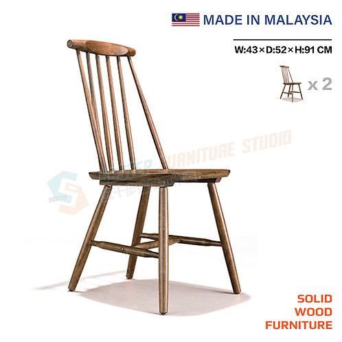 全新馬來西亞製造實木餐椅(兩張) Brand New solid wood chair (2pcs)