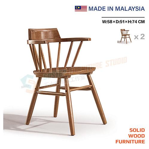 全新馬來西亞製造實木温莎餐椅(兩張) Brand New solid wood windsor chair (2pcs)