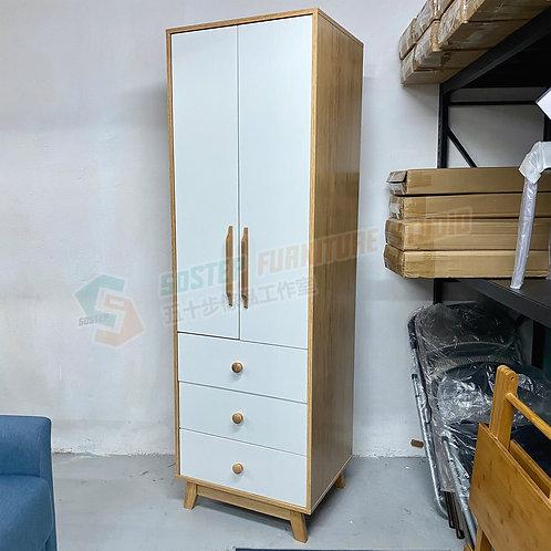 全新日式三桶兩門衣櫃 Brand New wardrobe w drawers