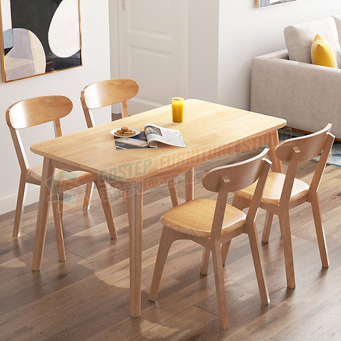 全新泰國進口實木餐檯/連餐椅 Brand New solid wood dinning table/w chairs
