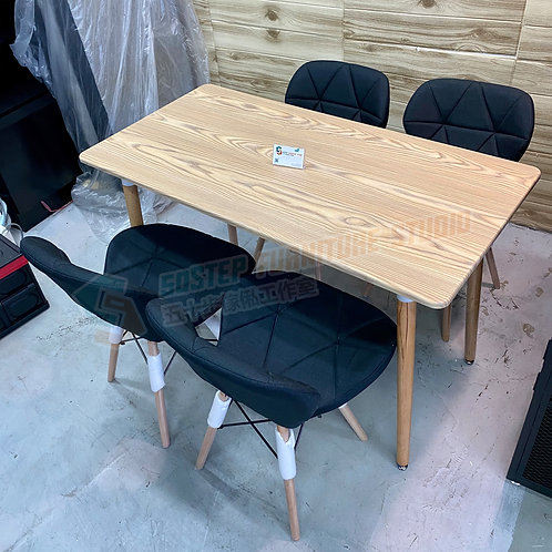 全新木紋餐檯四餐椅 Brand New dinning table+chairs*4