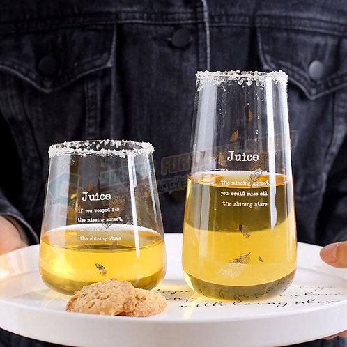 金羽毛玻璃咖啡杯 Glass