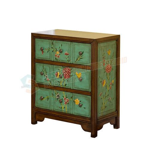 全新復古手工彩繪三桶儲物櫃 Brand New cabinet