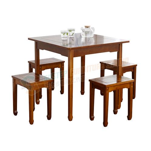 全新楠竹正方形餐檯/連四櫈 Brand New table/w stools, bamboo