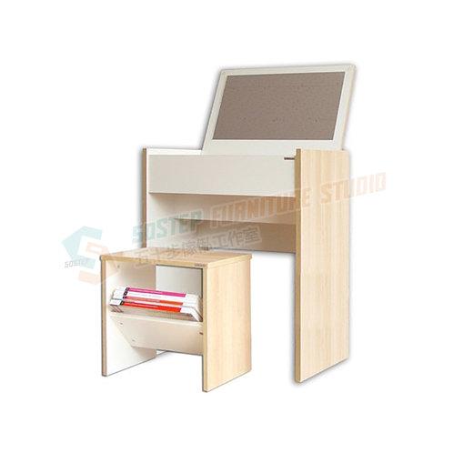 免費送貨藏鏡梳妝檯櫈組合 Free shipping dressing desk w stool, mirror