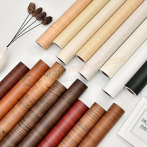 免運費防水加厚木紋即貼牆紙 Free delivery PVC wood grain wallpaper